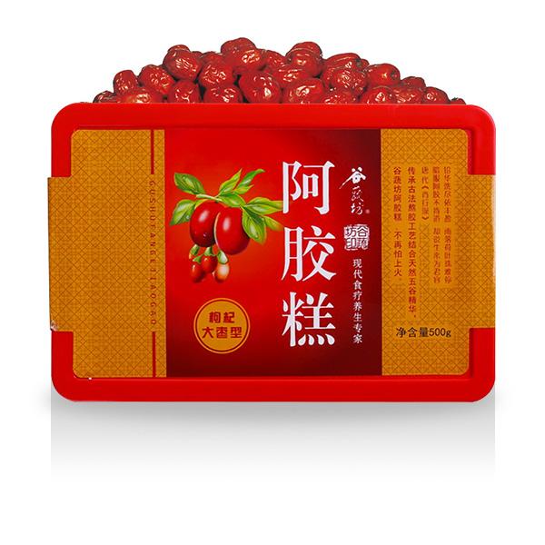 谷蔬坊 阿胶糕(枸杞大枣型) 500g