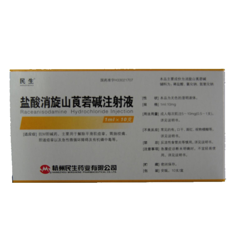 杭州民生 盐酸消旋山莨菪碱注射液