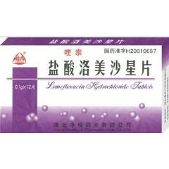 中佳药业 盐酸洛美沙星片